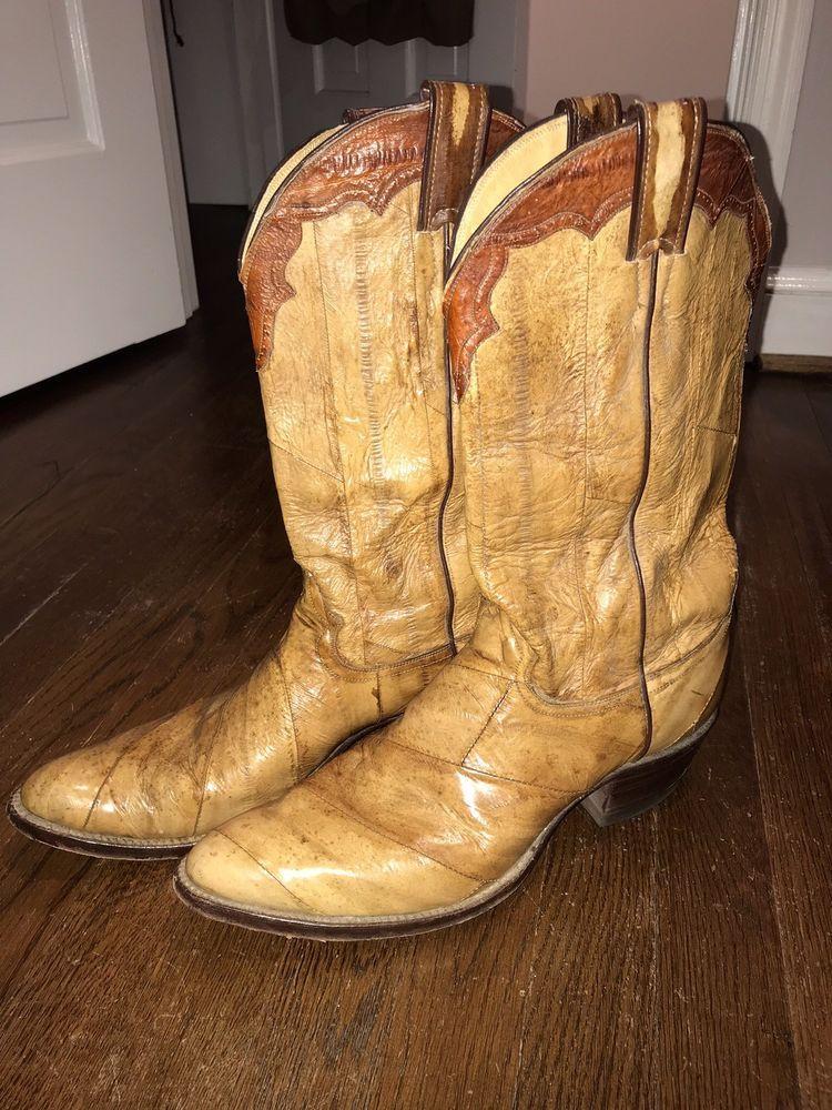 ecbfe2fc440 Mens Exotic Eel Skin Cowboy Boots 11B/10D: $50.00 (0 Bids) End Date ...