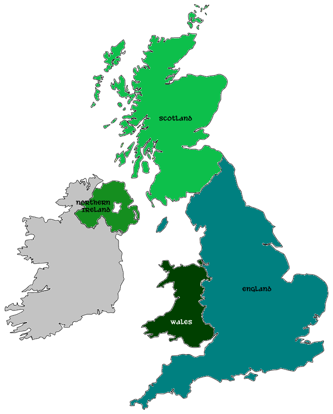 Uk Map Irland Tour Pinterest Ireland And Scotland: Map Scotland England Wales At Slyspyder.com