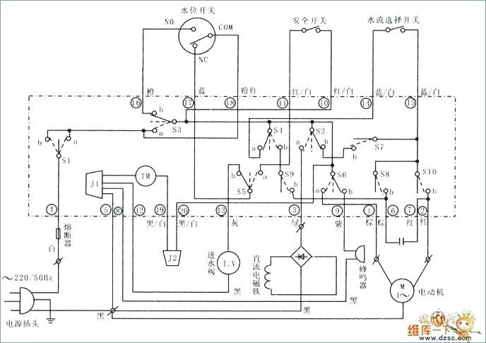 Wiring Diagram Of Washing Machine With Dryer