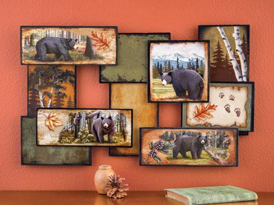 Cabin Wall Art northwoods black bear wall art | woodland decor | pinterest