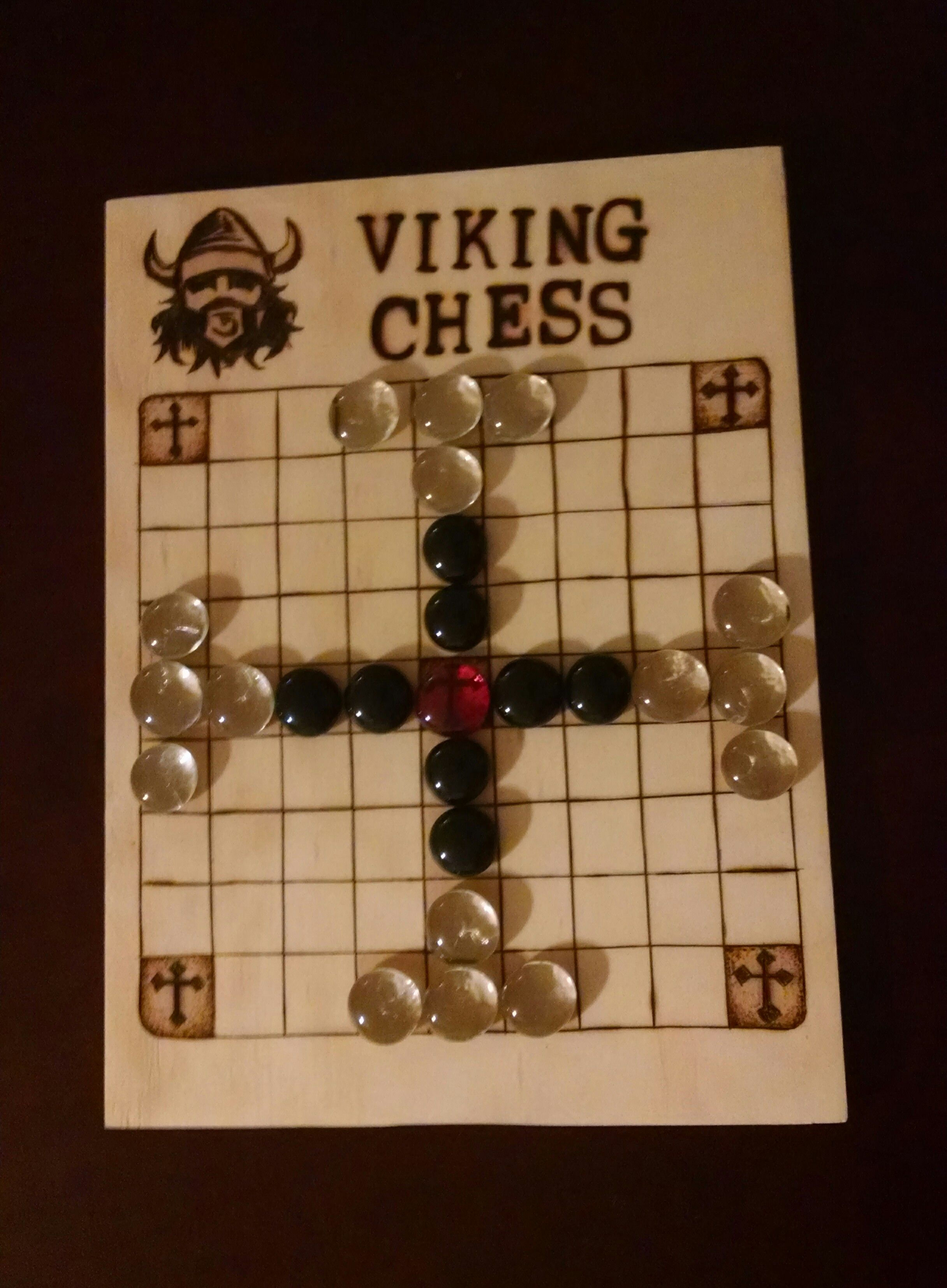 Board based on the Android app, Viking Chess. Viking
