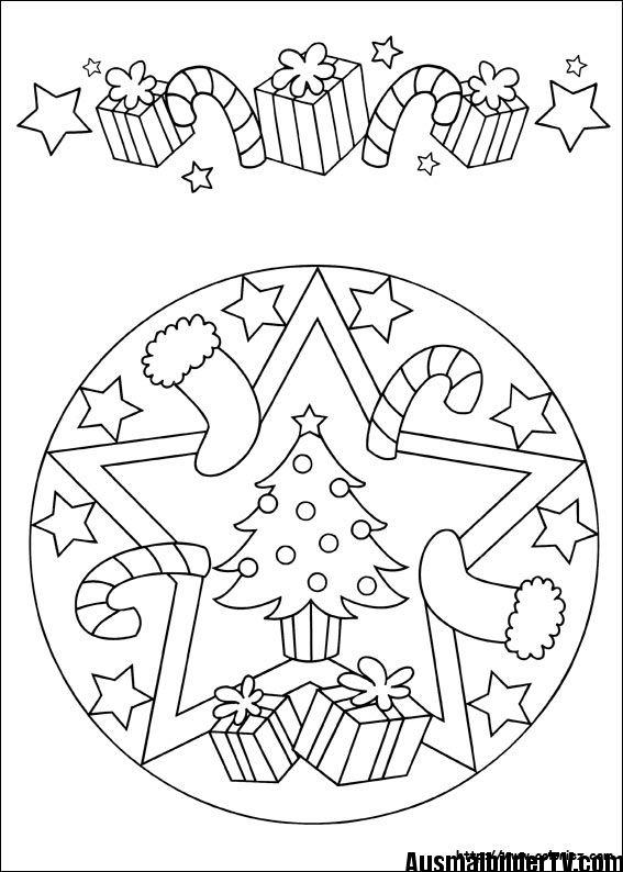 Mandala Noel Ausmalbilder Weihnachten Ausmalbilder Weihnachtsmalvorlagen