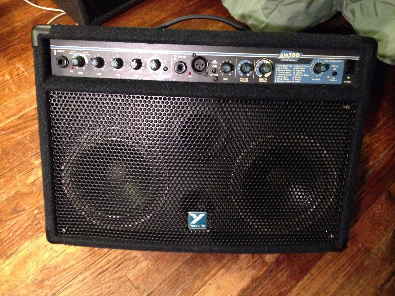 yorkville am100 acoustic guitar amp amplifier with effects 100 watts rh pinterest com