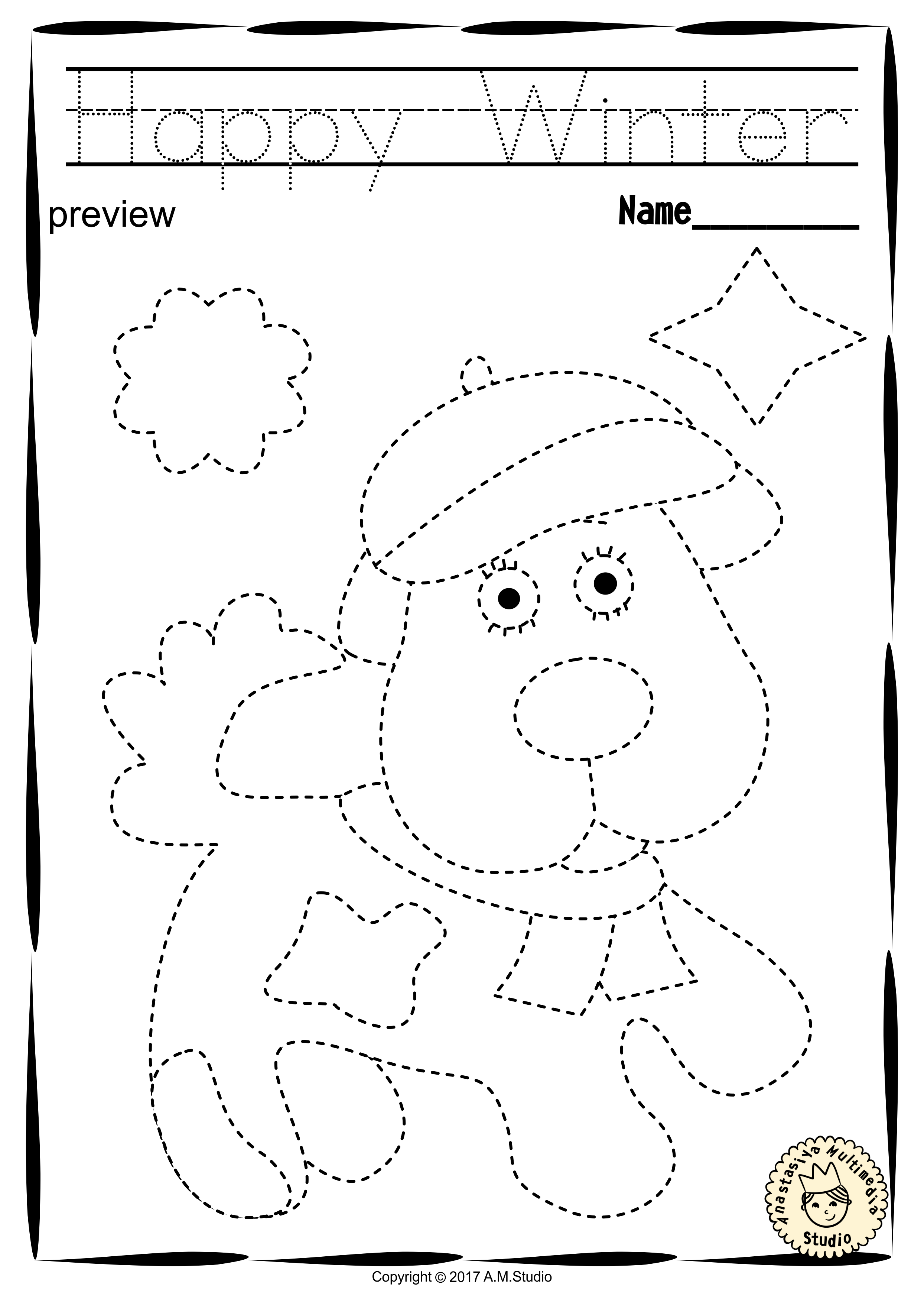 Winter Trace And Color Pages Fine Motor Skills Pre Writing Anastasiya Multimedia Studio Preschool Writing Preschool Activities Preschool Workbooks [ 3512 x 2488 Pixel ]
