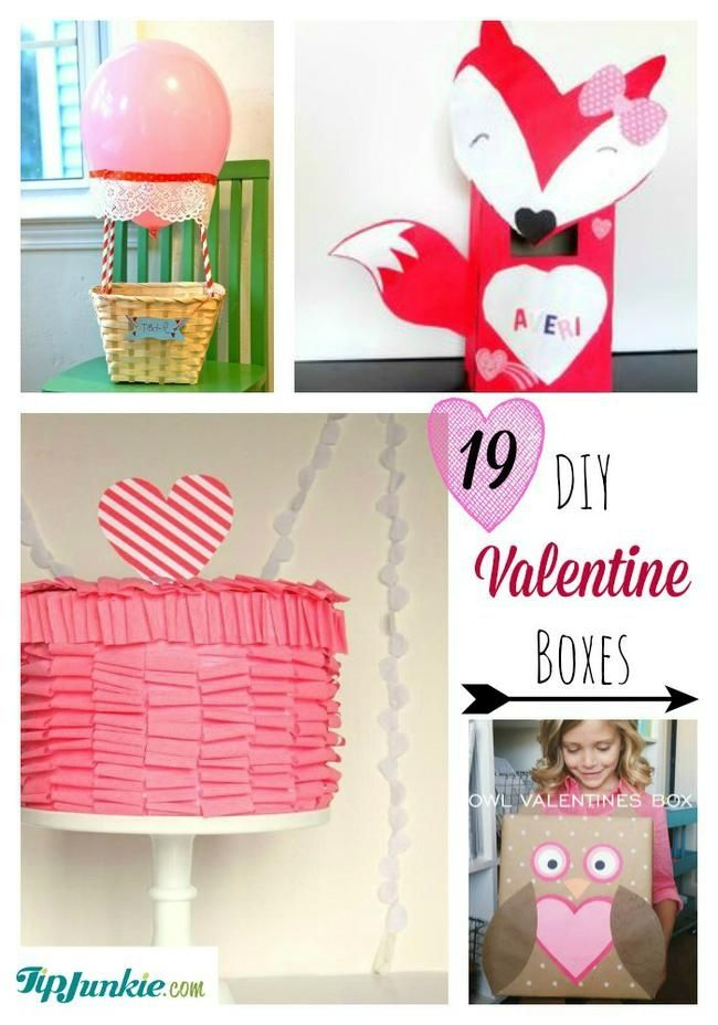 19 Easy DIY Valentine Boxes. These Creative Valentine Box Ideas Include  Envelopes, Mailbox And