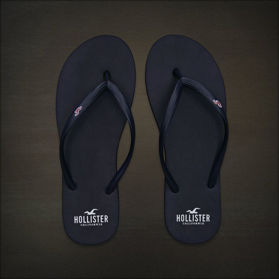 7875b29a8a7cd Hollister Co. Bettys Classic Beach Flip Flops - navy