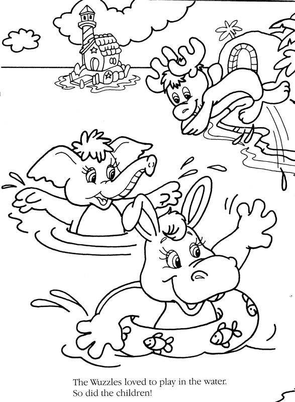 TimelessTrinkets.com Wuzzles Coloring Pages