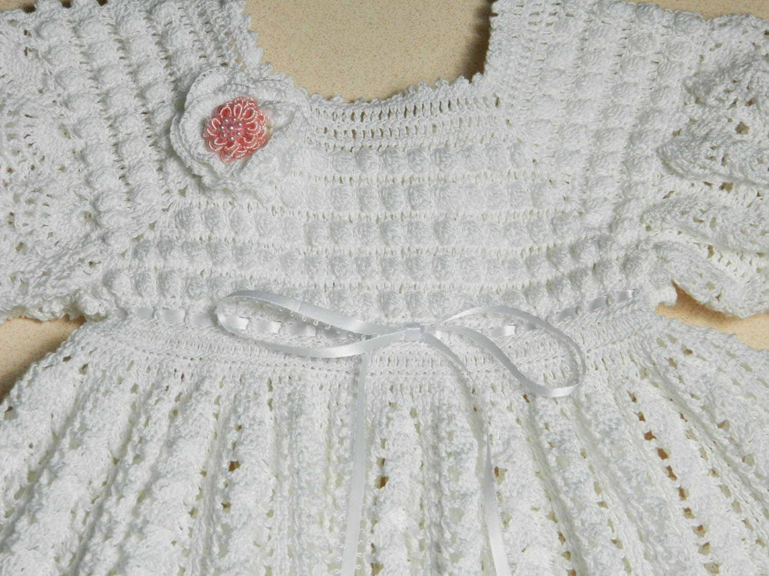Crochet Baby Dress And Bonnet Pattern : cotton thread crochet baby patterns really appreciate a ...