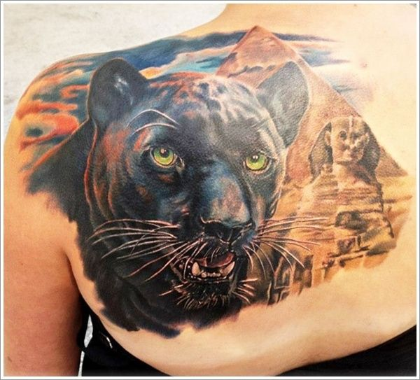 30 Most Amazing Panther Tattoo Designs Panther Tattoo Animal Tattoos Animal Tattoo