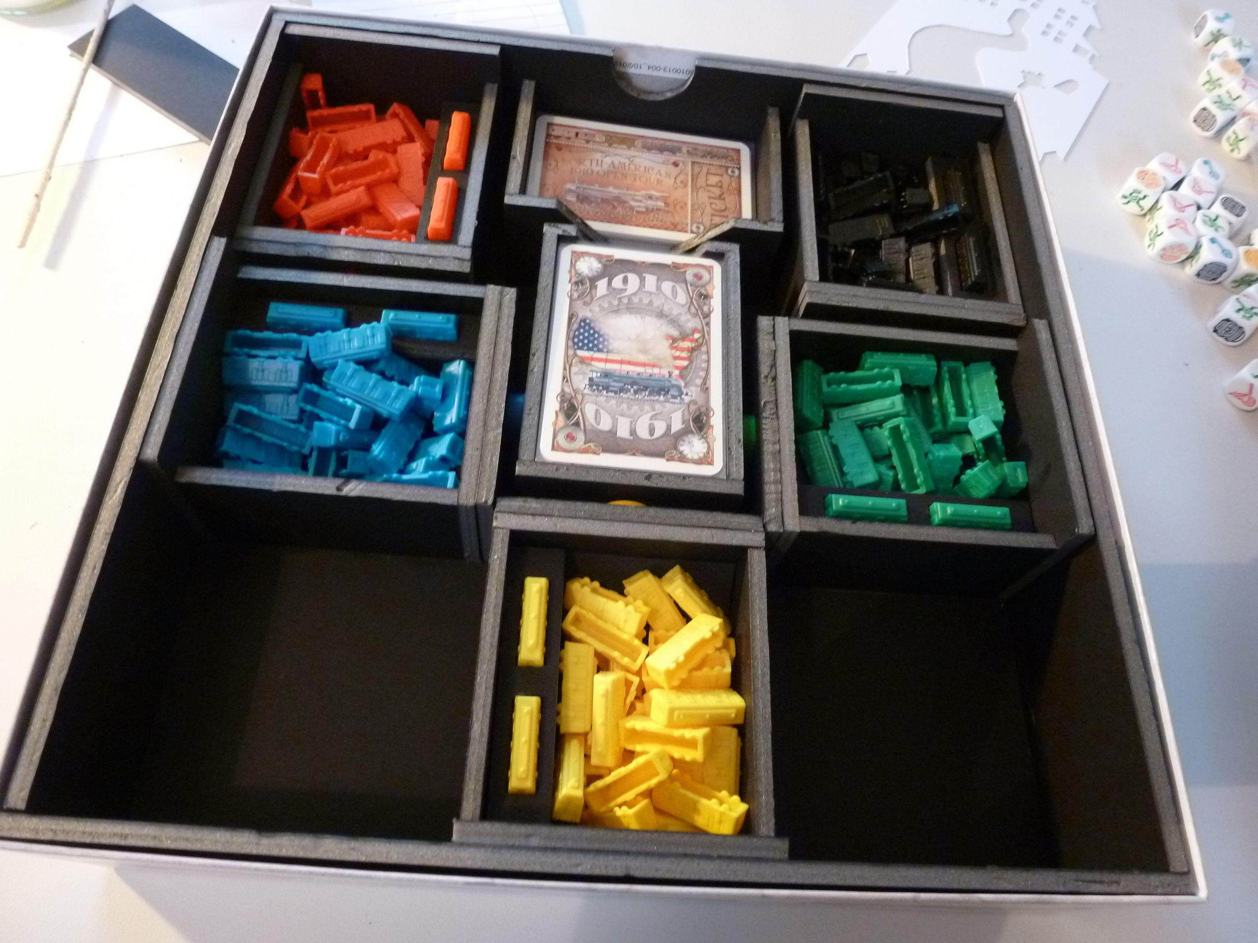 Ticket to Ride | Foam Board (Foam Core) Game Inserts | Pinterest