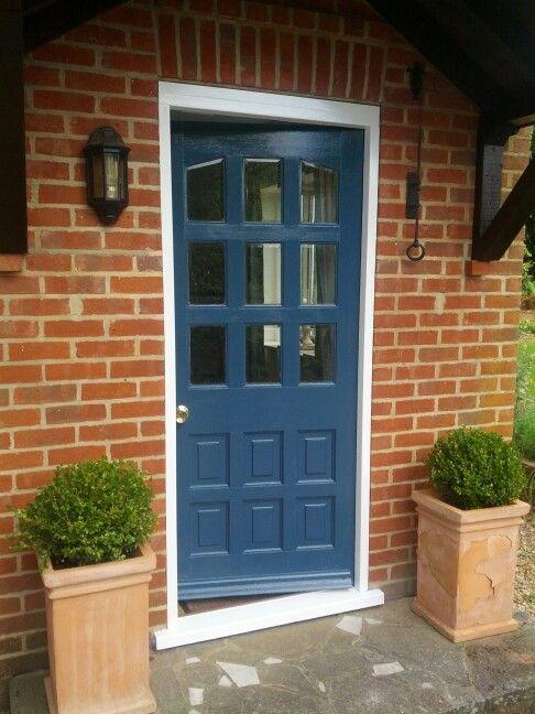 Stiffkey Blue Brick Exterior House Painted Front Doors Front Door Paint Colors