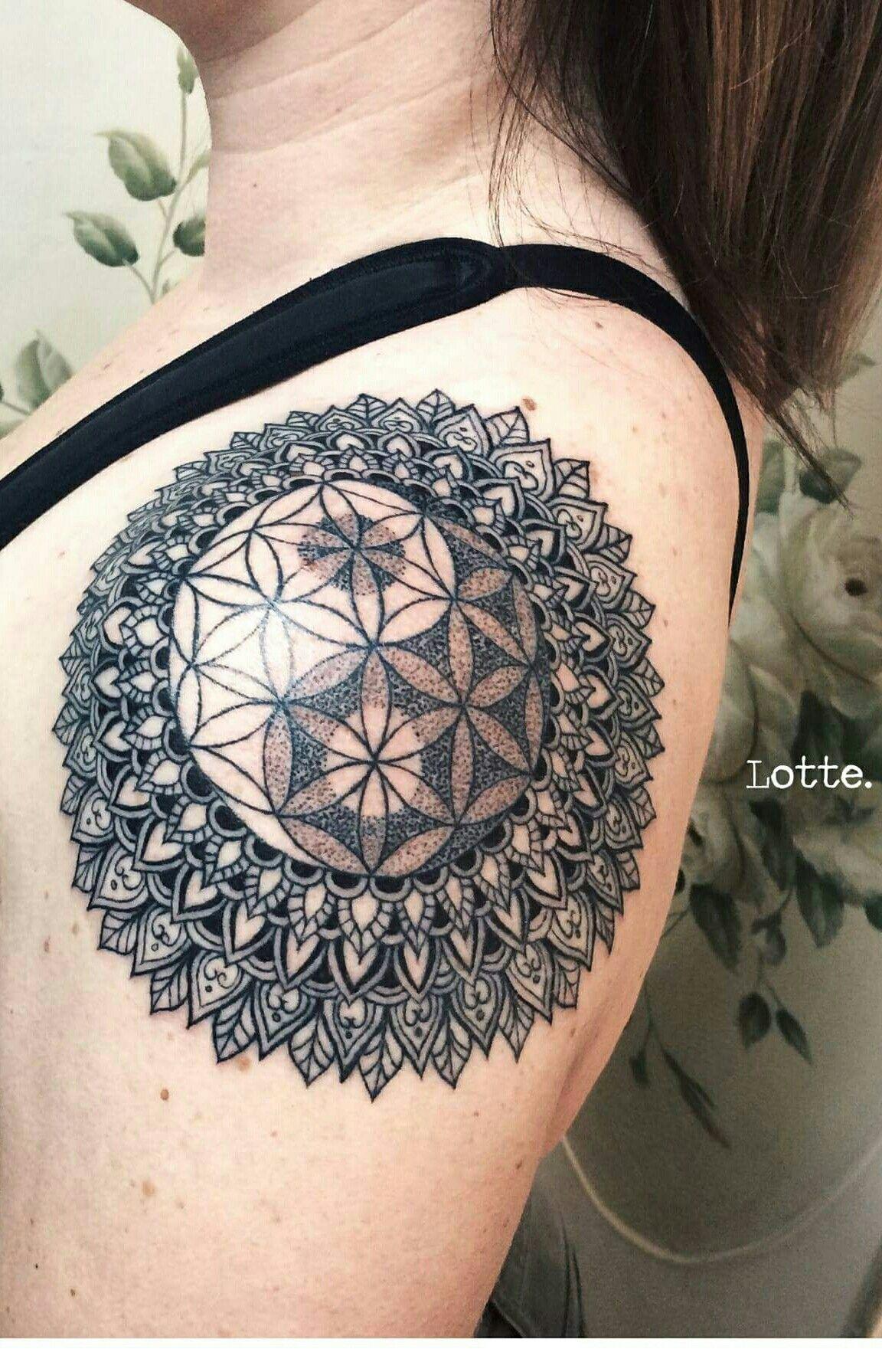 b76460fac yin yang tattoo mandala shoulder | Mandalaship | Yin yang tattoos ...