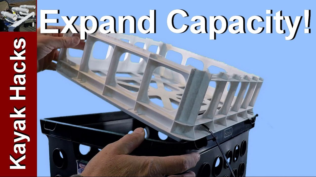 76ba7c1a69 Setup a Kayak Milk Crate Cover or Lid - YouTube