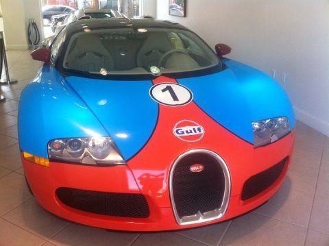 Overkill Bugatti Veyron In Gulf Theme Bugatti Veyron Bugatti