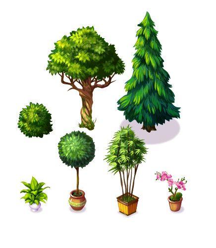 Christmas Tree Farms Victoria: Game Elements By Victoria Kosheleva, Via Behance