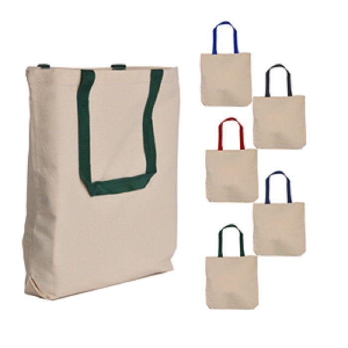 8d1271042465 Exclusive Contrast Color Handles Canvas Tote Bag