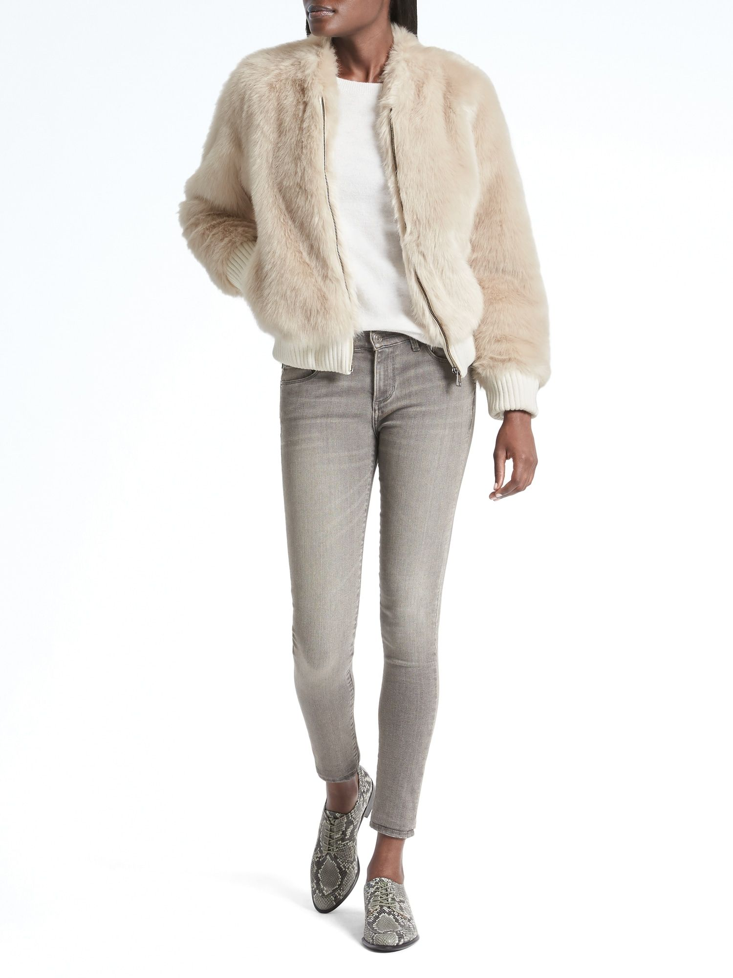 205ff19e6e74 faux fur bomber $198 banana republic   Style that Inspires   Fur ...