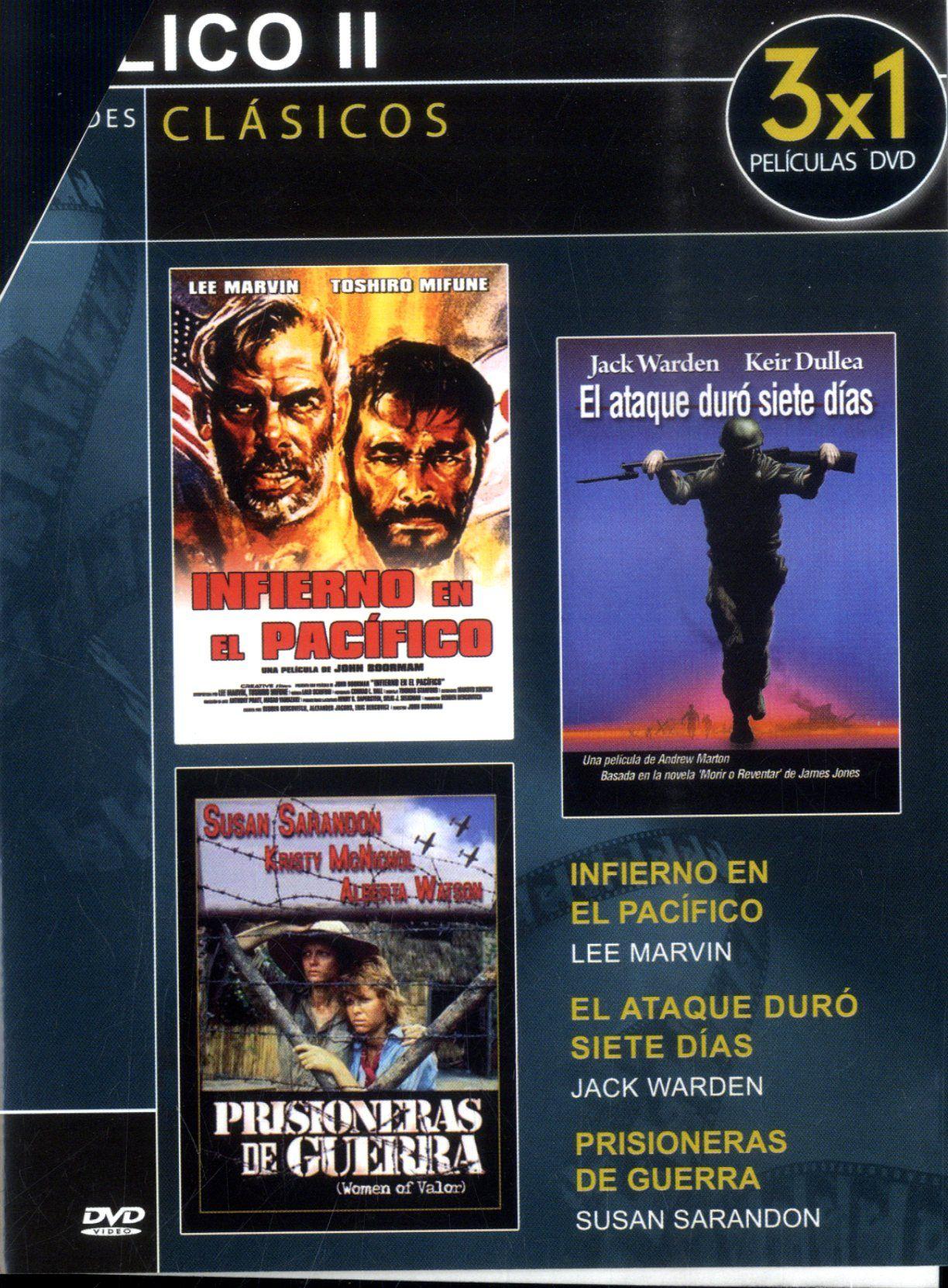 Infierno en el Pacífico [Vídeo] / director John Boorman. El ataque duró siete días / director Andrew Marton. Prisioneras de guerra / director Buzz Kulik. Signatura: Cine (ARQ) 346   Na biblioteca: http://kmelot.biblioteca.udc.es/record=b1531109~S1*gag