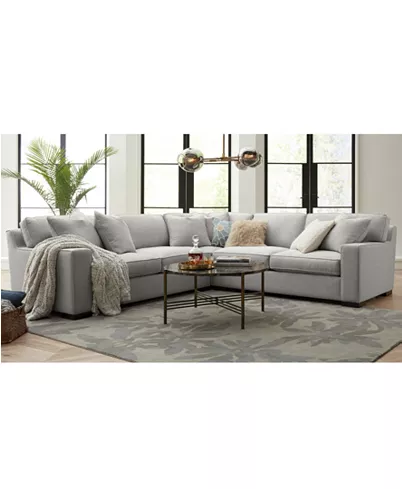 Bangor 4-Pc. Sectional Sofa with Chaise, Created for Macy\'s ...