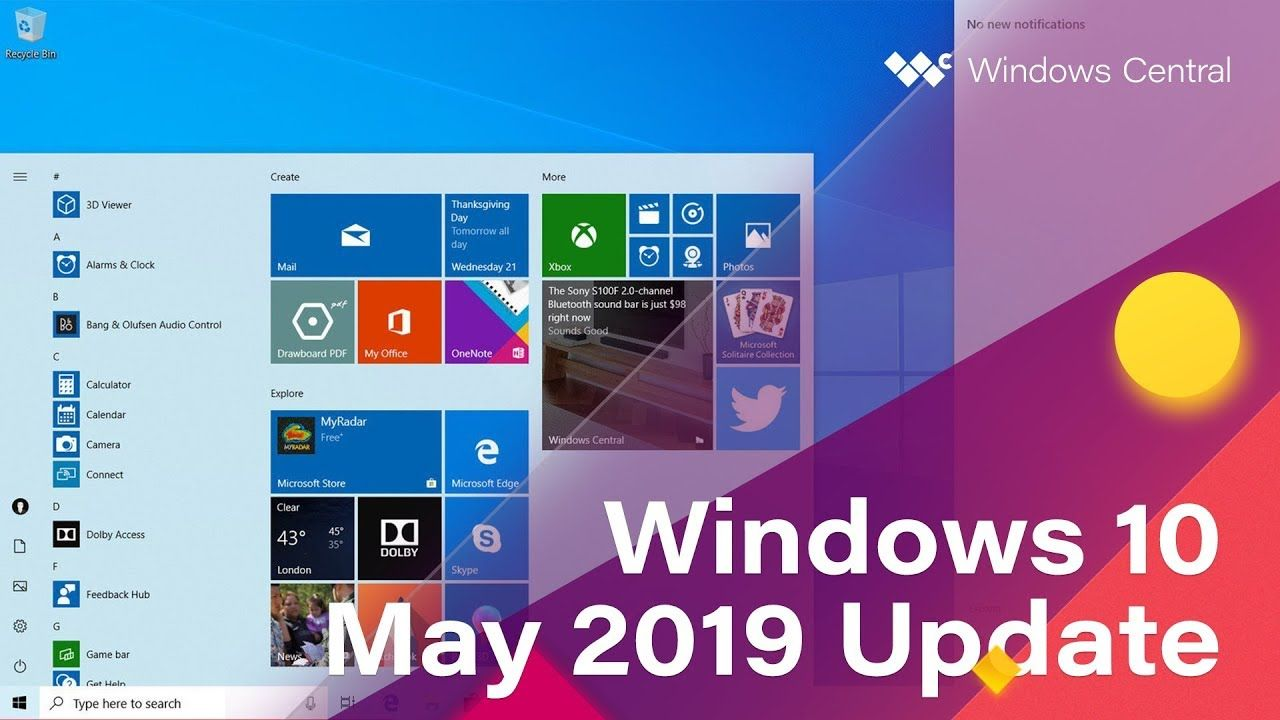 Windows 10 May 2019 Update Official Release Demo