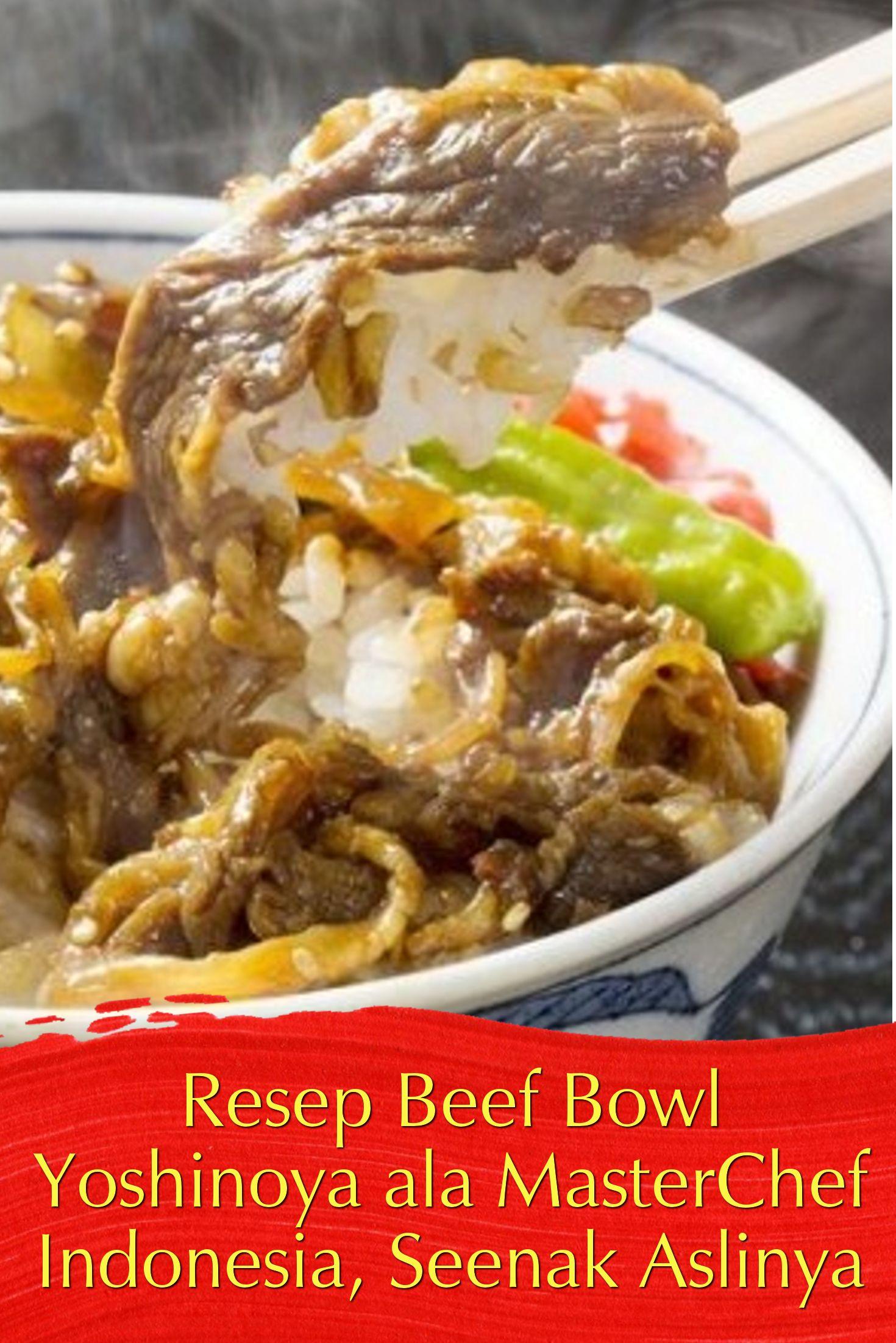 Resep Beef Bowl Yoshinoya Resep