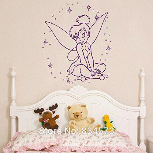 Disney Château Fées Princesse Clochette Art Mural Autocollant Sticker Image