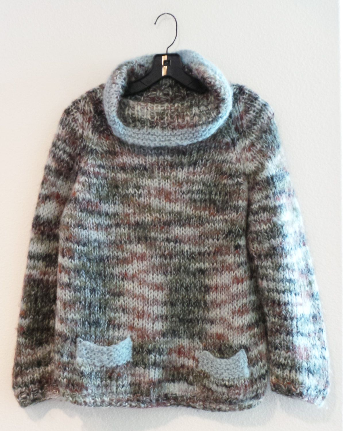 67e0ee4c7dbb0 Warm Vintage 50s COLEBROOK Hand Knit Italy Wool Mohair Sweater Pullover