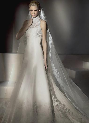 Taffeta Wedding Dresses with Bling