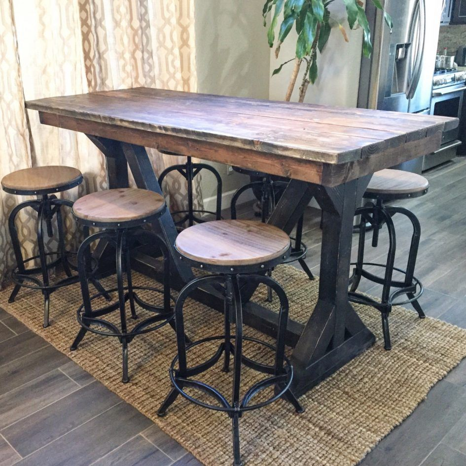 Patio Outdoor Bar Sets Portable Pub Style Table
