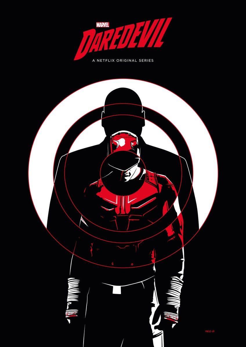 Daredevil Season 3 Bullseye Kingpin Poster Marvel Daredevil Daredevil Netflix Daredevil Punisher