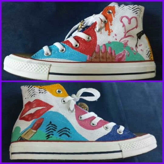34b34077a138 Custom makeup Converse Chucks Custom Design