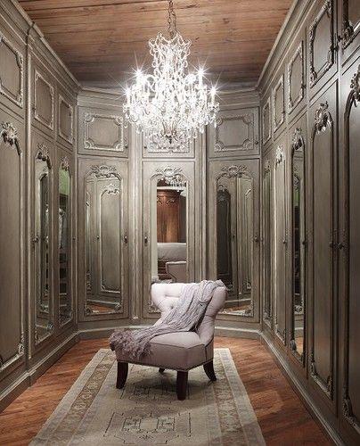 Elegant Elegant U0026 Classy Closet. Love The Chandelier And The Color Of The Closet  Doors.