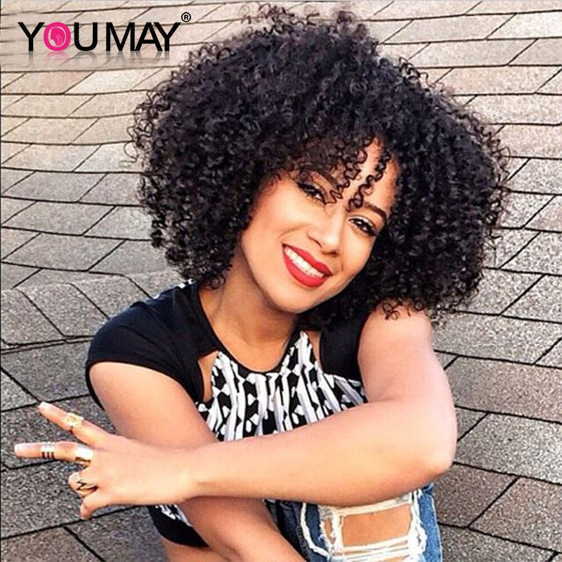 59.94$  Watch here - http://aliuwn.worldwells.pw/go.php?t=32650465609 - 7A Clip In Curly Hair Extensions 3B 3C Kinky Curly Clip In Human Hair Extensions Brazilian Clip Ins Extensions For Black Women 59.94$