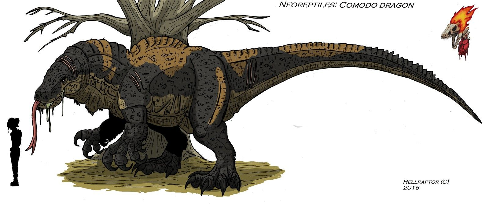 neoreptiles comodo dragon finished artowork and concept richard
