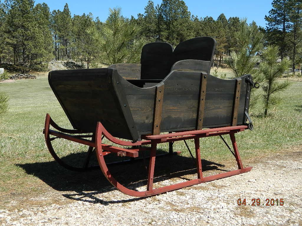 Horse Drawn Wood Sleigh on Antique Runners w/ Old Shafts Holiday Christmas Front Lawn Decor Horse Drawn Sleigh Rides Photography Props NICE by dakotagypsy on Etsy