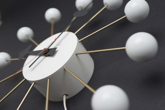 Vintage George Nelson Ball Clock Atomic Eames Era Starburst 1950's Wall Howard Miller on Etsy, $399.00