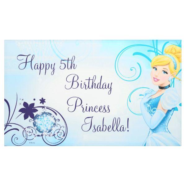 Cinderella Birthday Banner