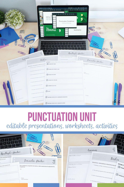 Punctuation Unit In 2021 Teaching Punctuation Language Arts Classroom Punctuation