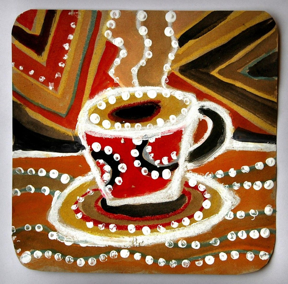 Inspired by Australian Aboriginal Art these cups
