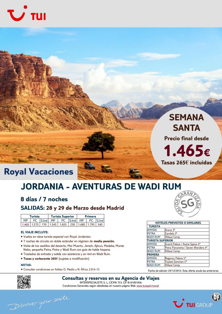 Semana Santa-Jordania:Aventuras de Wadi Rum. 7 noches.Madrid 28 y 29Marzo. Precio final dsde 1.465€ ultimo minuto - http://zocotours.com/semana-santa-jordaniaaventuras-de-wadi-rum-7-noches-madrid-28-y-29marzo-precio-final-dsde-1-465e-ultimo-minuto-2/
