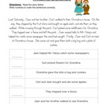 Order of Events Worksheet 1 | Worksheets, Reading worksheets and ...
