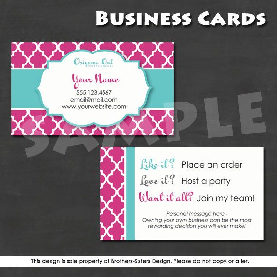 Direct Sales Business Card With Owl Origami Owl Business