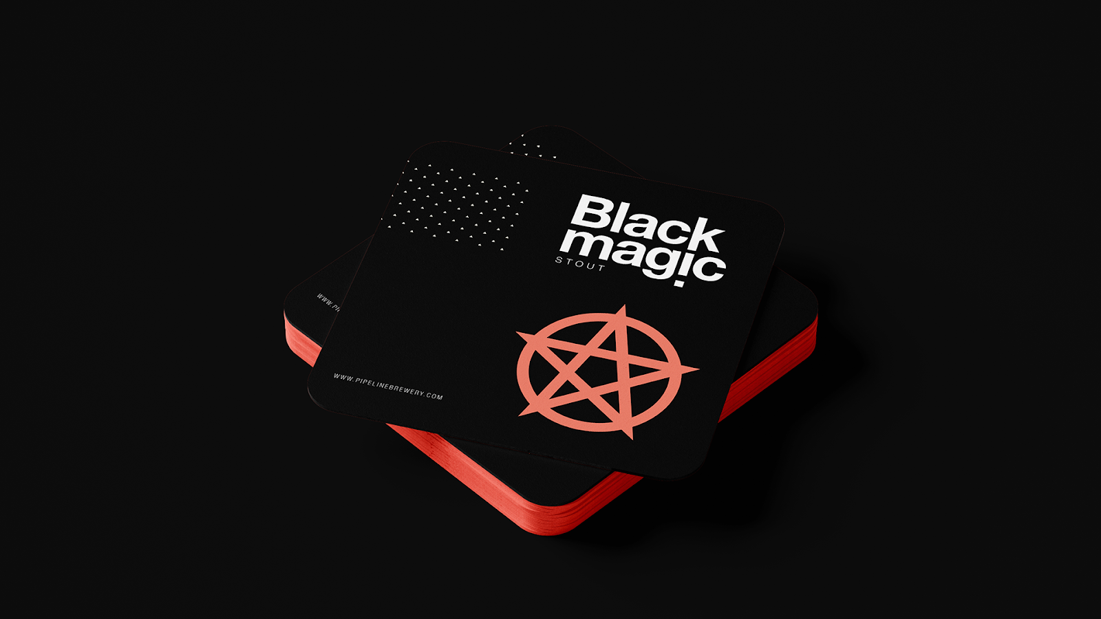 Miha Avsenik Pipeline Brewery Black Magic Stout World Brand Design Society Pipeline Brewery Is A Non Comme Branding Design Promotional Design Brewery