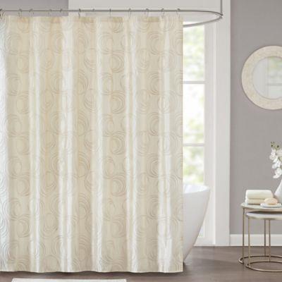 Cosma Shower Curtain In Ivory Stylish Shower Curtain Bathroom