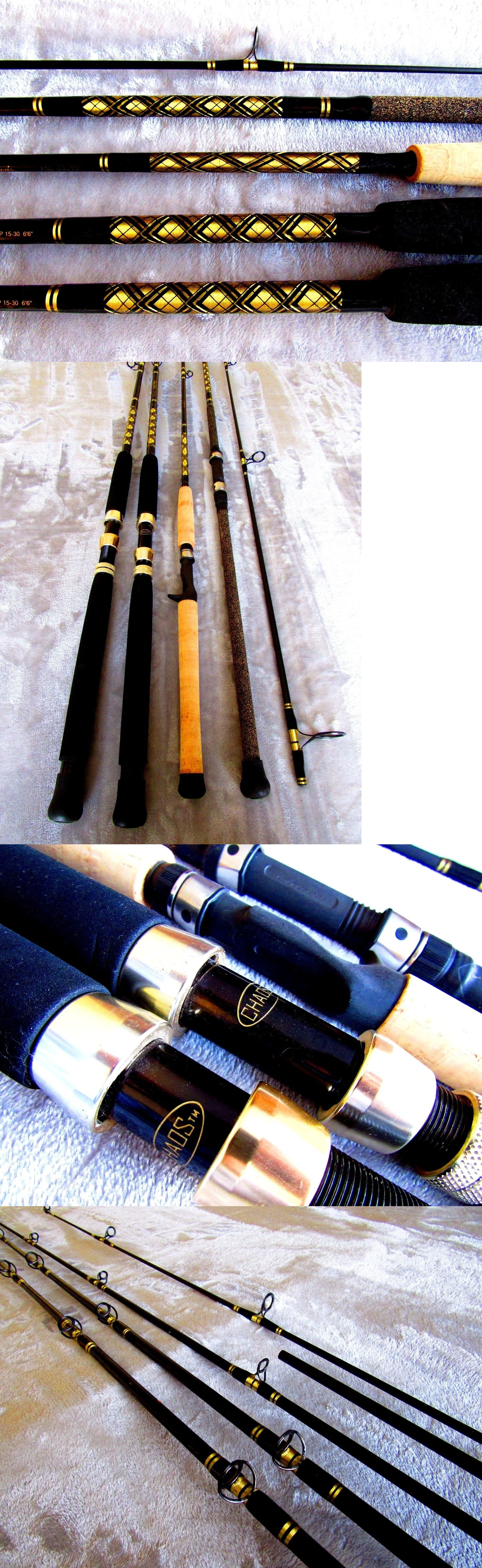 Other Fishing Rods 166161: Chaos Custom Rod Lot Of 4 Muskie Wahoo Tuna Tarpon Trolling Surf Casting BUY IT NOW ONLY: $399.0