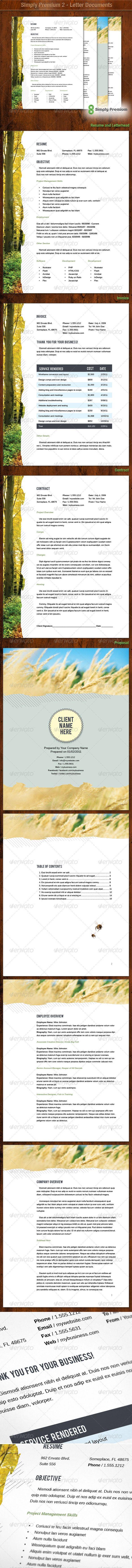 Simply Premium 2 Letterhead Resume Invoice Letterhead