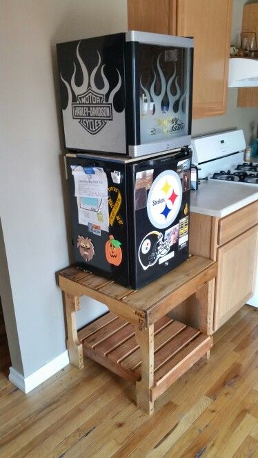 Mini Fridge Stand Out Of A Skid My Creations Mini