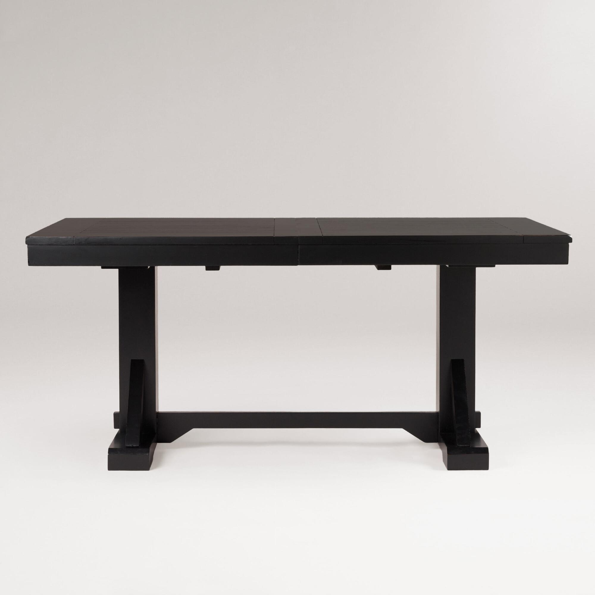Superb Antique Black Verona Trestle Table World Market Client Ibusinesslaw Wood Chair Design Ideas Ibusinesslaworg