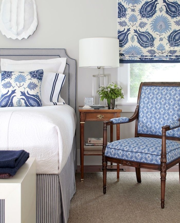 Chair Next To Bed Thinking About Changing Color And I Love This Blue Blue Bedroom Home Bedroom Blue Rooms