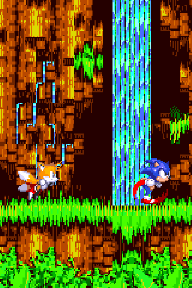 Pixelperfect RETINA resolution Sonic the Hedgehog